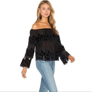 Endless Rose | Lacy off the shoulder tiered top S